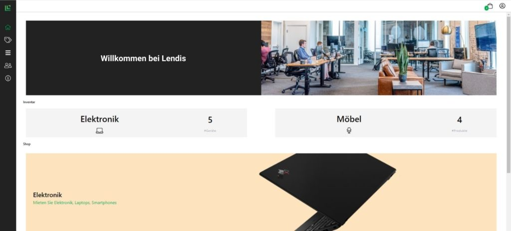 Lendis - Plattform für die Büroausstattung