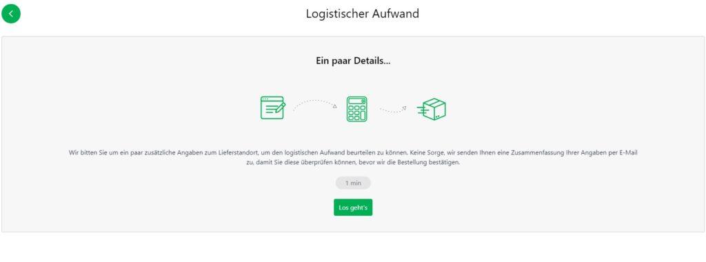 Full Checkout - Wichtige Logistikhinweise